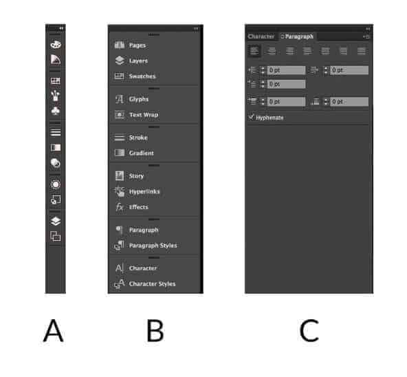 Illustrator Docked Right Menu Tool Panel