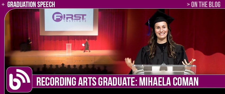 Mihaela Coman: Graduate Spotlight – Graduation Speech
