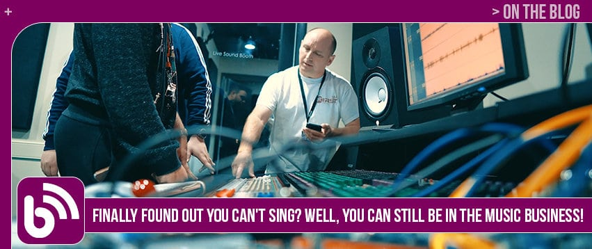 Finally Found Out You Can't Sing? Well, You Can Still Be in the Music Business!
