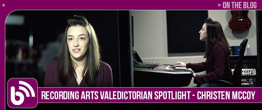 Christen McCoy: Graduate Spotlight, Recording Arts & Show Production