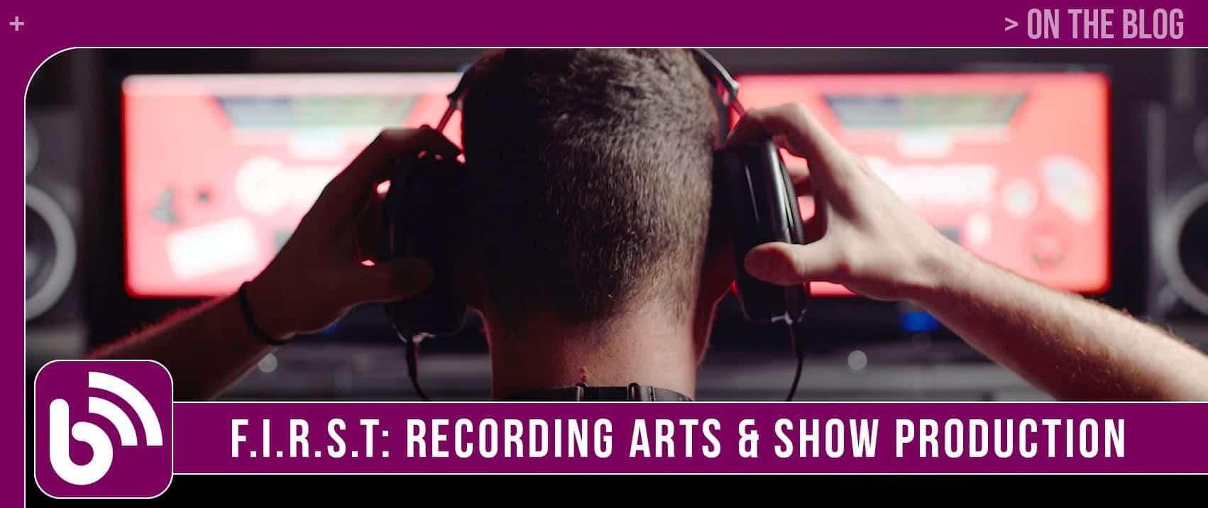 Recording Arts Landing Page