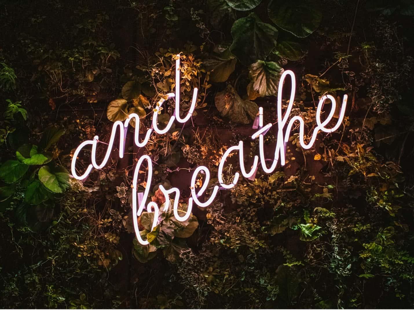Taking a deep breath will help you battle creative block.