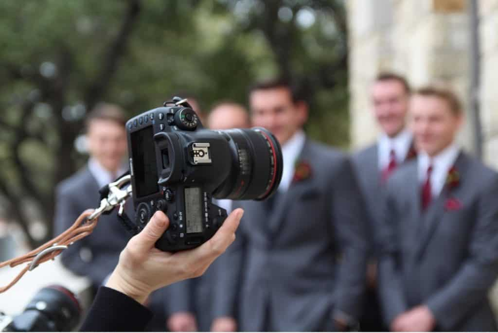 Work closely with the photographer when shooting your wedding video.