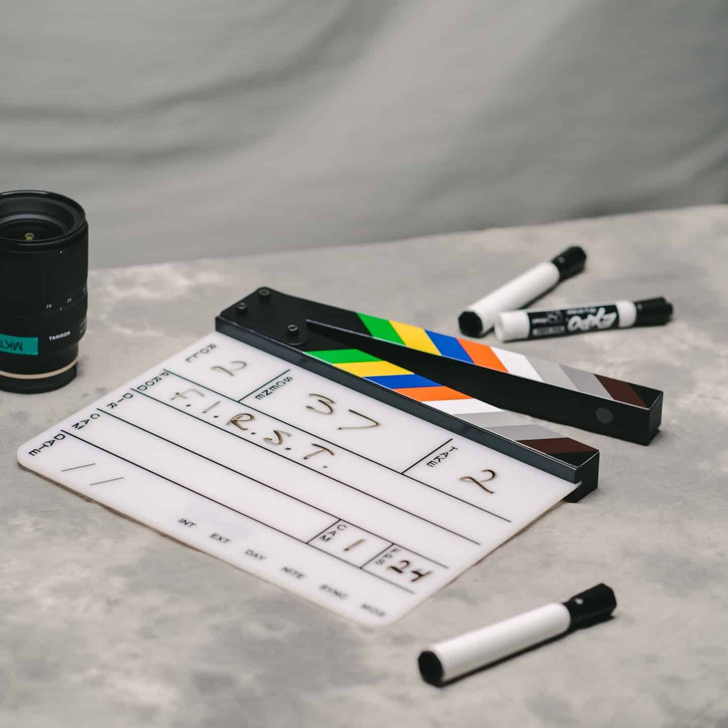 A slate is used to keep a film set organized, and organization is a key personality trait of the world's best film directors.
